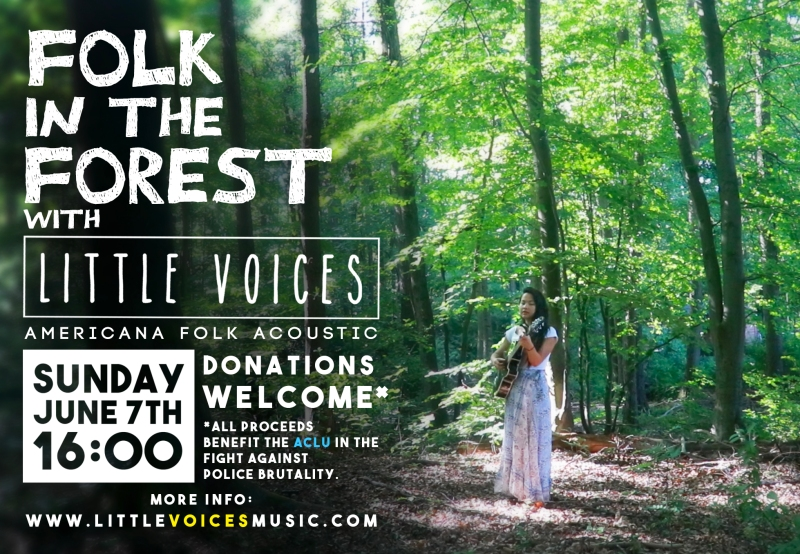 Folk in the Forest: A live performance in the woods benefiting the ACLU.
